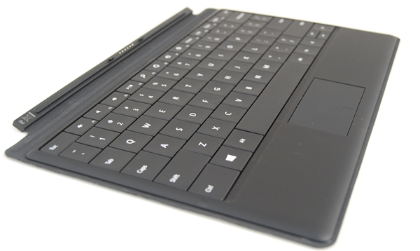 According to Microsoft, the Type Cover is 6mm thin and has a capacitive sensing trackpad. It's available only in black.