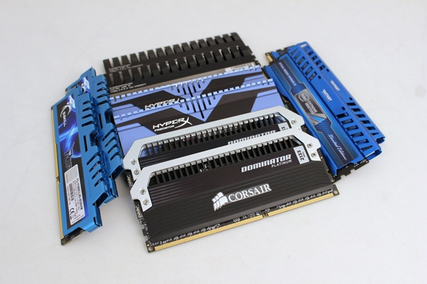 Shown here are the five sets of DDR3-2133 memory modules we have rounded up for our comparison. They are from Corsair, Crucial, G.Skill, Kingston and Patriot Memory.