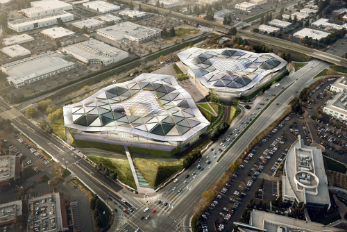The new NVIDIA campus as designed by Hao Ko from Gensler
