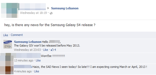 Samsung Lebanon on the release of the Galaxy S IV.
