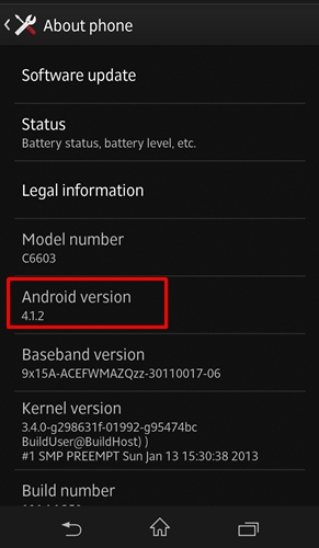 As of publication, the device is still running on Android 4.1.