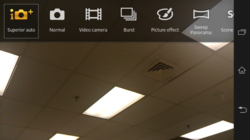 Burst and Sweep Panorama modes are some of the software enhancements you can get on the Xperia Z.