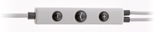 Displayed above is a common example of a three button control pod found on most smartphone-compatible in-ear earphones.