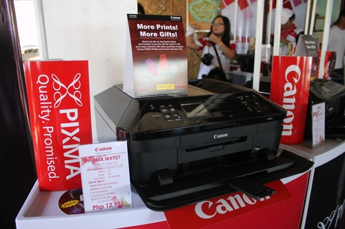 Canon PIXMA MX927 offers features such as print, scan, copy, and fax. It can also perform these via Wi-Fi. SRP is PhP12,995.