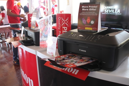 A booth was set up during the event to showcase the new lineup of Canon PIXMA printers.