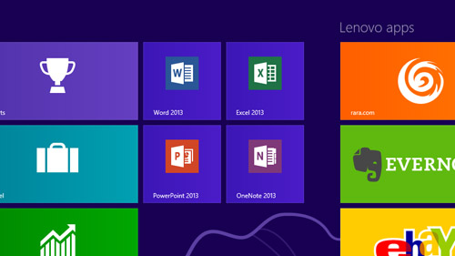 You'll find RT versions of Word, Excel and PowerPoint pre-installed on the Yoga 11. Note that they are still preview editions and they will be updated to the full edition when Microsoft updates its RT edition of the Office 2013 suite.