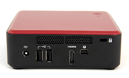 At the back, the DC3127BY has two USB 2.0 ports, a Thunderbolt port and a HDMI port to drive displays. The DC3127IYE, on the other hand, eschews the Thunderbolt port for an additional HDMI port and a Gigabit Ethernet jack. For commercial deployment, it even has a Kensington slot.