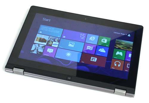 ...the Yoga 11's screen can be flipped back and around to turn it into a tablet.