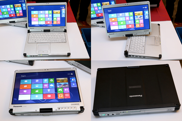 The Toughbook CF-C2 is versatile in the sense that it can be flipped, tilted and swiveled to a variety of form factors