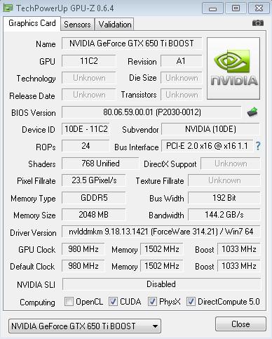 nvidia geforce gtx 650 ti drivers windows 7 64 bit