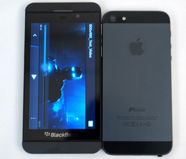 The BlackBerry Z10 and Apple iPhone 5 have a similar design language that we won't be surprised if Apple sues BlackBerry for infringing on its design patent(s).