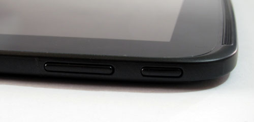 The Nexus 10's sole physical buttons.