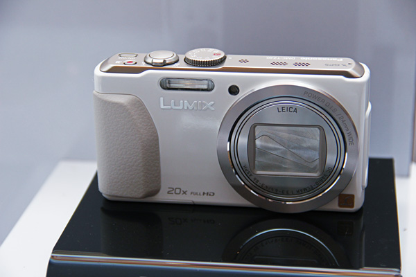 The Lumix TZ40 has an 18MP sensor, 20x optical zoom lens, Wi-Fi with NFC and GPS.