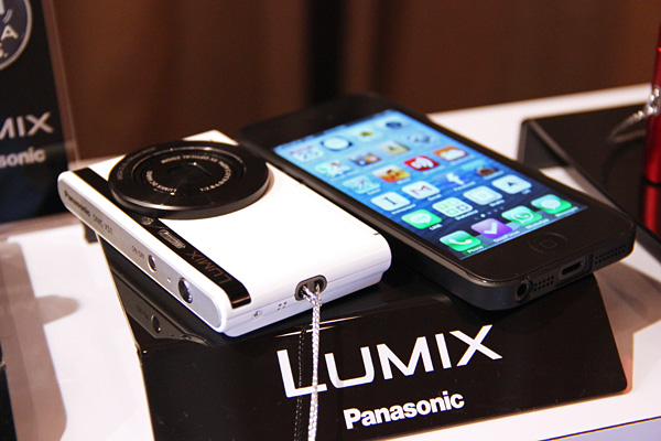 The Lumix XS1 is impressively slim, and not much thicker than an iPhone 5.