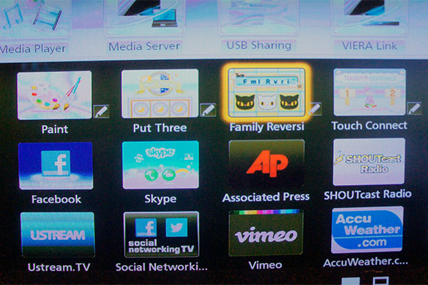A few apps (those with a pen icon beside them) that support the electronic touch pen will come preloaded on the TV. At this point, the pen can't be used to navigate the UI; so instead of selecting the app by touching its icon with the pen, you have to use the remote control.