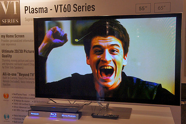 The VT60 series is the flagship PDP series that Panasonic will be carrying here.