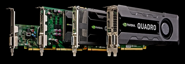 The new Kepler Quadro family of cards. (Image Source: NVIDIA)