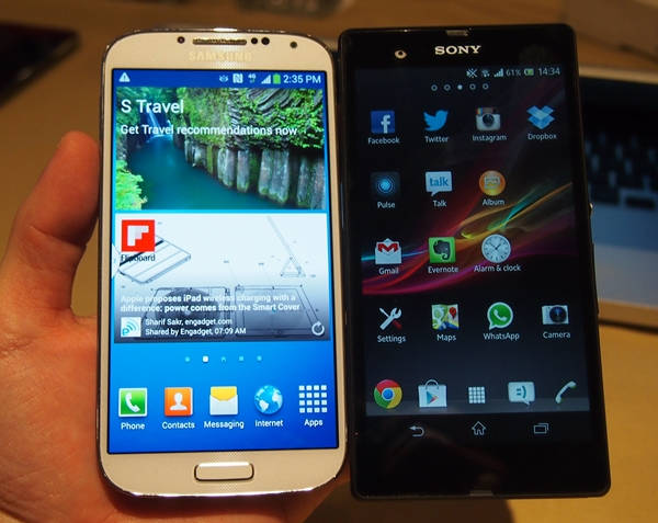 Samsung Galaxy S4 vs. Sony Xperia Z