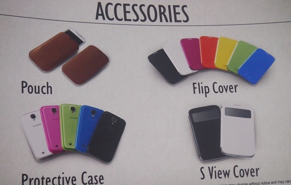 We feel that the S View Cover will be the most popular accessory among consumers when the Samsung Galaxy S4 arrives.