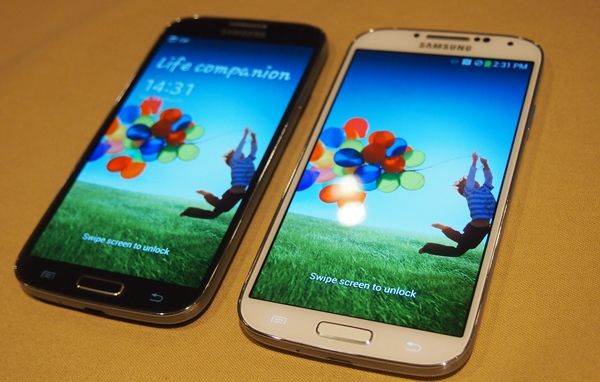 The Samsung GALAXY S 4 is available in two colors: Black Mist and White Frost