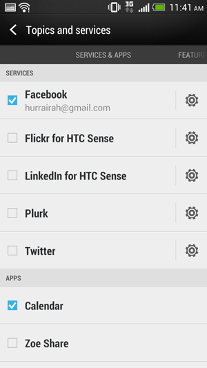 All the important social media services are also available for inclusion in your BlinkFeed.
