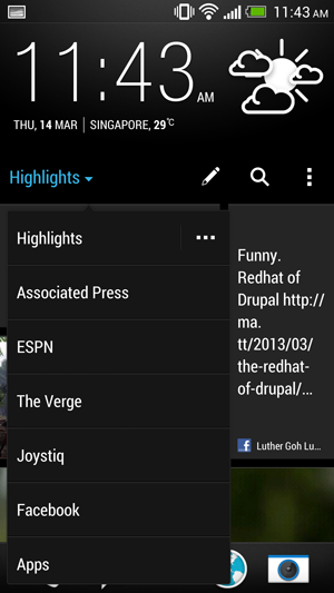 You can choose to view the highlight from all your feeds or navigate to them individually to get a deeper look.