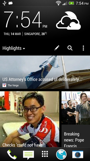 HTC BlinkFeed allows you to get all the pertinent updates relevant to you at a glance.