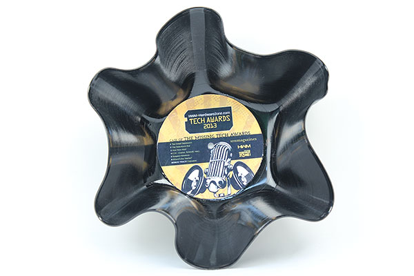 Well, it's a vinyl record re-purposed as a popcorn bowl. It's great for holding those popcorns we gave out.