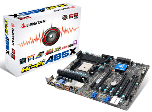 The Biostar Hi-Fi A85X motherboard.
