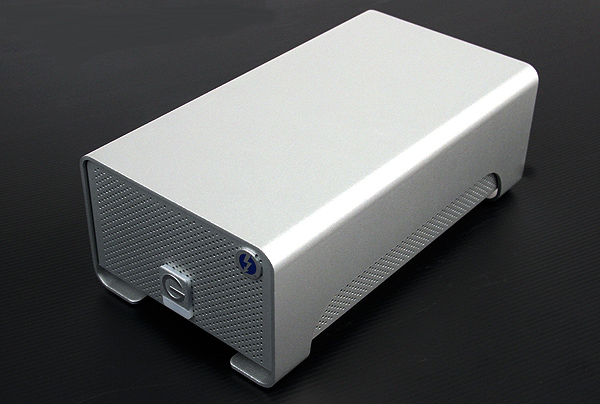 Targeted at Mac users, the G RAID with Thunderbolt comes with a matching aluminum case and is pretty handsome to behold.