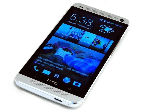 The HTC One has a 4.7-inch display. HTC is said to be launching another model with a larger display.