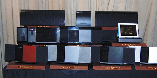 A wide variety of Panasonic's AV offerings were on display at the event.