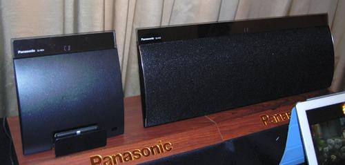 The two piece Panasonic SC-NE5 is an impressive wireless speaker boasting a myriad of playback options.