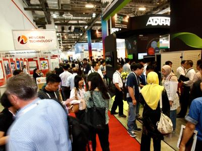 Visitors at the CommunicAsia, EnterpriseIT and BroadcastAsia events held in 2012