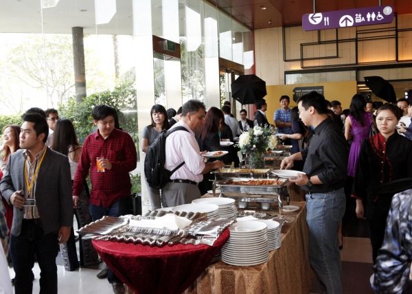 Soon after the awards presentation and 'movie trilogy' ended, a sumptuous tea-time spread was put out for our guests.
