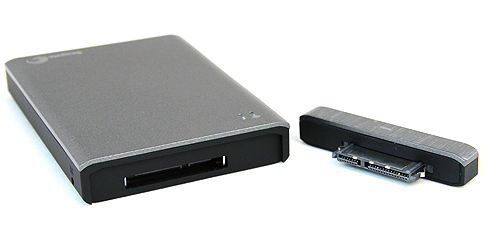 A standard on Seagate portable hard drives these days is their Universal Storage Module, which allows users to change the interface of the drives via interchangeable adapters.