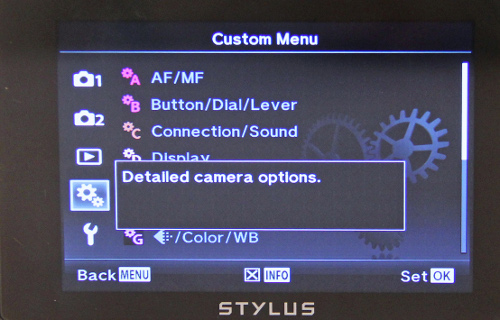 We wished the XZ-2's menu system was more streamlined.