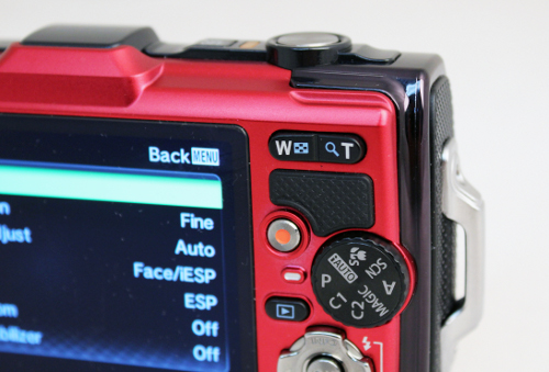 The TG-2 now features Aperture Priority mode, represented by the A on the mode dial.