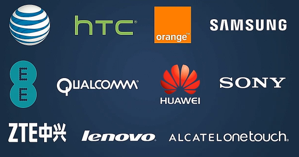 The companies that have already signed up for the Facebook Home Program.