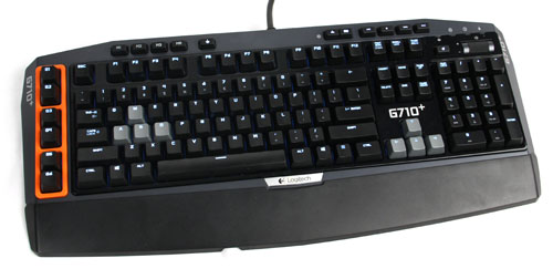 The Logitech G710+ Mechanical Gaming Keyboard comes with thoughtful little extras such as dual-zone backlighting where the WASD and arrow keys can have different backlit intensity apart from the rest of the keys on the keyboard.