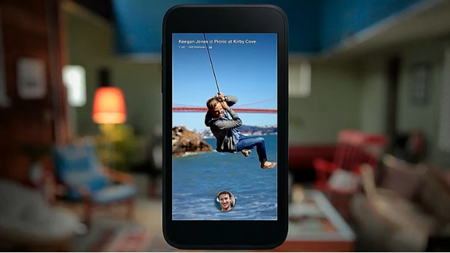 Cover Feed uses a Flipboard style design to show you full-screen pictures from your newsfeed