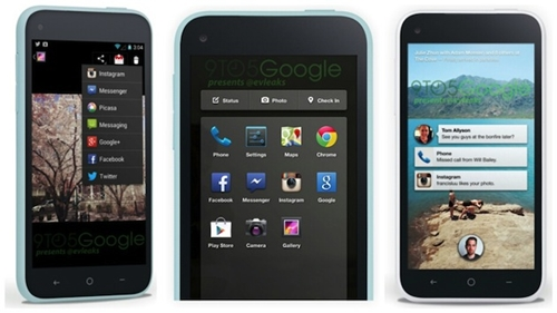 The screenshots of Facebook Home. <br>Image source: 9to5Google