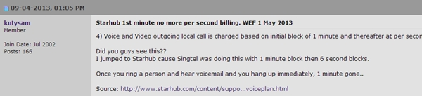 Forum member kutysam shares his view on the impact of StarHub's revision on local voice and video outgoing calls.