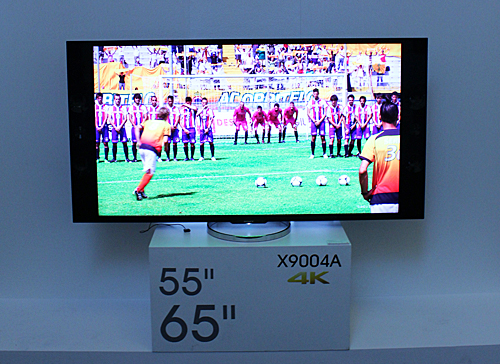 The 4K Sony Bravia X9004A is available in 55-inch and 65-inch versions.
