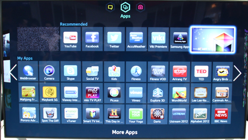 All your apps and services are now displayed on one dedicated page.