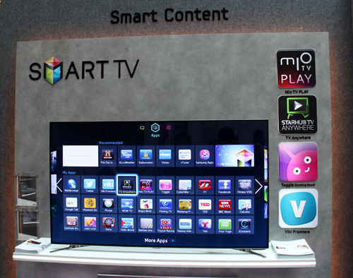 Samsung has partnered with content providers such as Singtel and StarHub to bring local content to their Smart TV platform.