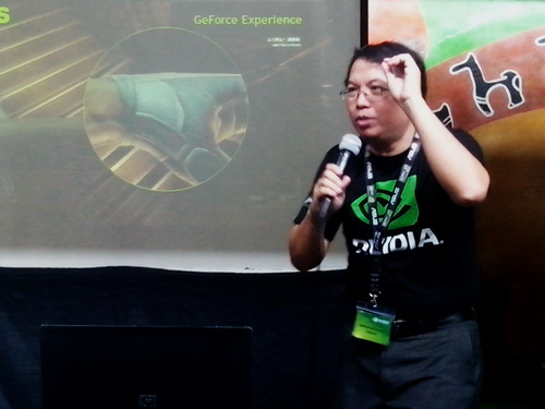 NVIDIA's Philippine representative Glenn Serrano points out the benefits that gamers will gain by using the GeForce Experience application.