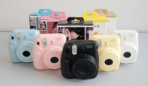 The new Fujifilm Instax Mini 8 is available in five colors.