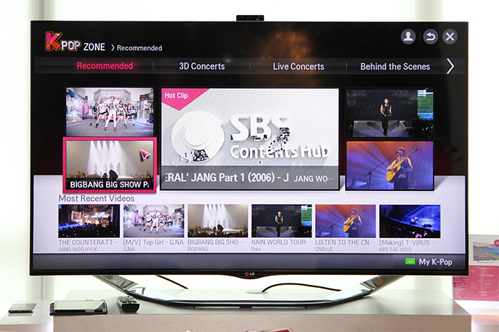 K-Pop Zone is an LG TV exclusive channel. There's a lot of K-pop content, from shows to interviews to concerts.
