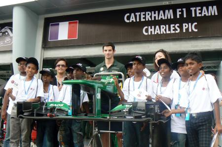 The children were given the chance to visit Caterham F1 team garage, which is usually off-limits